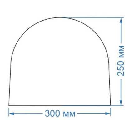 Форма для бетонных полусфер d300x250мм
