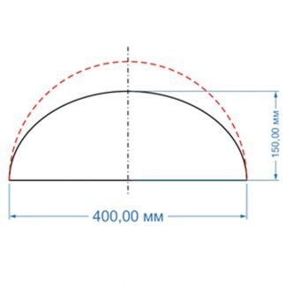 Форма для бетонных полусфер d400х150мм