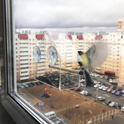 Кормушка для птиц на окно «КО-2»