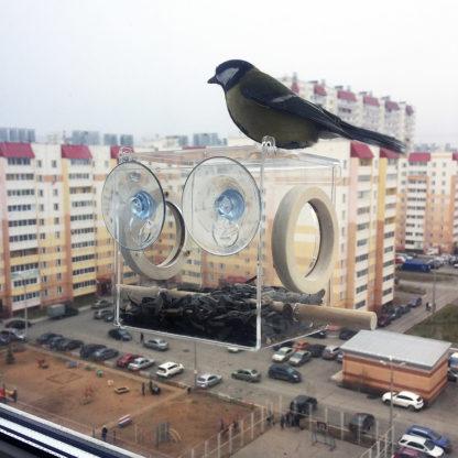 Кормушка для птиц на окно «КО-7»